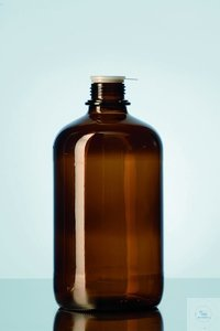 Amber glass screw cap bottle 2.5L