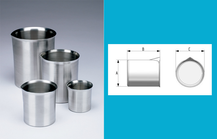 Aluminium beaker 1L, with spout