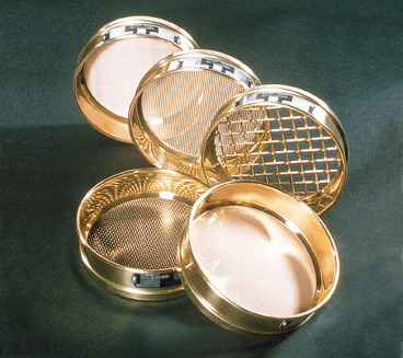 Test sieve with brass frame, diameter 200mm, aperture 850 microns