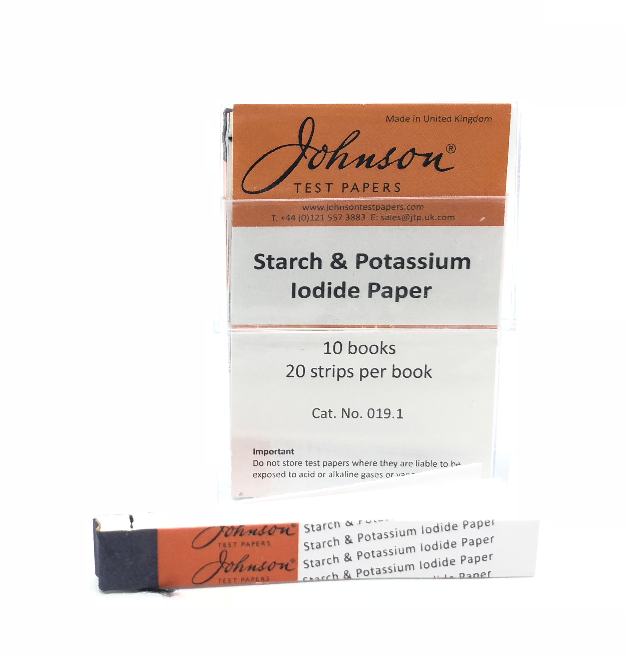 Starch & Potassium Iodide Paper (Box of 200 strips)